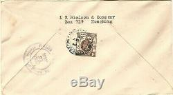 3 x Hong Kong 1937 Coronation Set First Day Covers, Different Cachet for Each