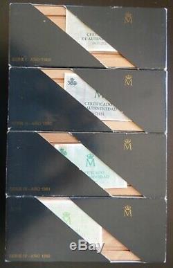4 Series 5 Monedas 100/200/500/1000/2000 Pesetas V Centenario 1989/90/91/92 Fdc