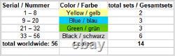 4 Set Green FDC Crypto Stamp 2.0 RARE Erstag Ersttagsbrief CS2 First Day Cover