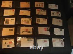 470 Ersttagsbriefe FDC´s 1940 1972 BRD DDR DR Berlin in 5 Alben mit Schuber