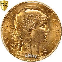 #480752 France, Marianne, 20 Francs, 1907, Paris, PCGS, MS65, FDC, Or, KM857