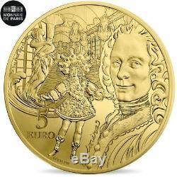 #482542 France, Monnaie de Paris, 5 Euro, Europa Voltaire, 2018, FDC, Or