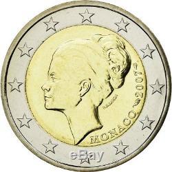 #483727 Monaco, 2 Euro, Grace Kelly, 2007, FDC, Bi-metallico, KM186