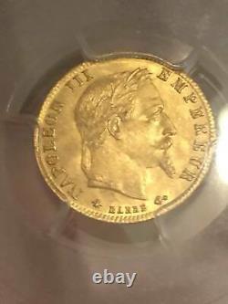 5 FRANCS OR 1866 A PARIS GOLD Napoléon III PCGS MS64 Collection Idéale RR FDC