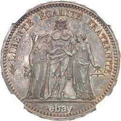 5 Francs 1849 Paris Flan bruni NGC PF64 Proof Fleur de Coin très rare High Grade