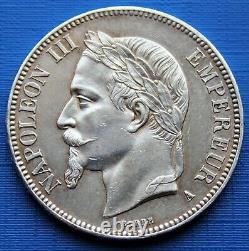5 Francs Argent Napoléon III 1867 A SPL/FDC (UNC Cleaning)