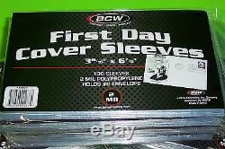 5000 FIRST DAY COVER POLY SLEEVES, 2 MIL, HOLDS #6 ENVELOPE, BCW, withFREE SHIPPING