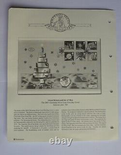 50p Isle of Man IOM Christmas Snowman Silver 2003 Uncirculated First Day Cover