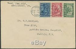 #548-550 Complete Set On First Day Cover Dec. 21,1920 CV $3,000 Wlm195