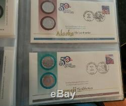56 First Day of Issue covers, all 50 State Quarters, all 6 territory quarters