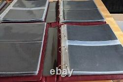 6 Luxury Royal Mail First Day Cover Albums with 12 inserts for FDC each 72 Total