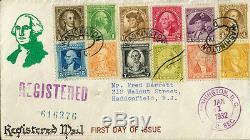 #704/15-nip 1932 Washington, DC First Day Cover Cachet Bn519