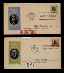 832-34 Beautiful Matched Set IOOR First Day Covers $1 $2 $5 Prexie Presidential