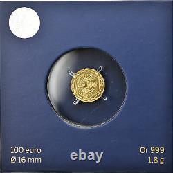 #894852 France, Monnaie de Paris, 100 Euro, UEFA Euro, 2016, Paris, FDC, Or