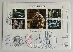 ABBA Signed First Day Cover Fully signed by Agnetha, Bjorn, Benny & Anni-Frid