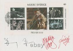 ABBA Signed Swedish FDC with a large Musik i Sverige stamp
