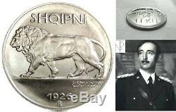 ALBANIA (Ahmed Bey ZOGU) 1/4 Leku 1926 Roma-FDC