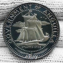 ANGUILLA, 4 dollari 1967 Argento 999/. FDC/FS