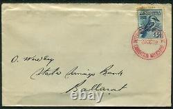 AUSTRALIA 1928 KOOKABURRA 3d'BLUE' First Day Cover USED SG106 Cv $225 A9678