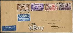 Ägypten 1933 Luftfahrtkongreß DO-X Zeppelin Flugzeug 186-190 FDC First Day Cover