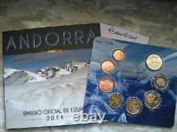 Andorra 2014 Divisionale Ufficiale 8 Monete Fdc Kms Bu Set Unc Andorre