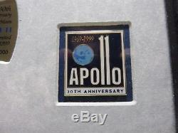 Apollo 11 30th Commemorative Framed Pin Set and First Day Cover. # 87 of 1000