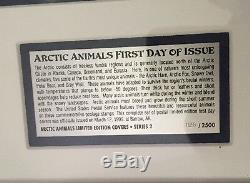 Arctic Animals First Day Cover Edition. 5 First Day Covers Framed And Certified