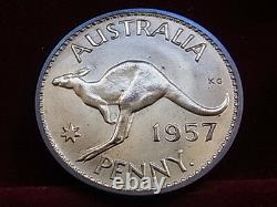 Australia. 1957 Perth Penny. Proof Virtually Full Red Lustre FDC