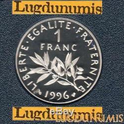 BE 1 Franc Semeuse 1996 FDC 5 319 Exemplaires Provenant du Coffret
