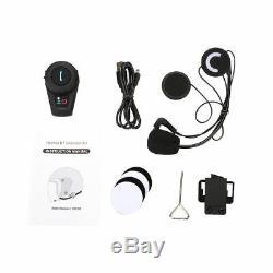 BT 500M Motorbike Interphone Motorcycle Bluetooth Helmet Intercom Headset hot FM
