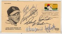 Baseball Musial, Brett, Hernandez, Williams +++ Autographed'69 FDC with COA