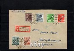Berlin, Nr. 3-7, 9 auf FDC Ersttagsbrief als Einschreiben, echt gelaufen