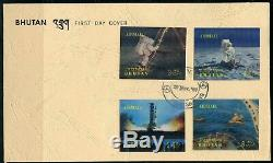 Bhutan Scott# 108/108k Space Set On Two Official First Day Covers Rare
