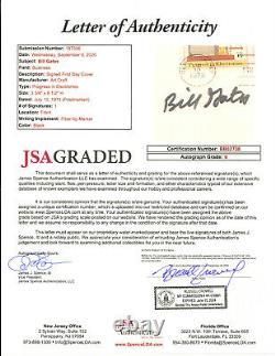 Bill Gates signed First Day Cover Cachet JSA AUTO GRADE 9 Microsoft BOLD Z234