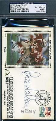 Bill Walsh Psa Dna Coa Autograph 1989 Fdc Hand Signed Authentic