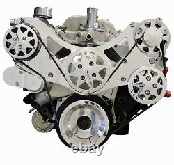 Billet Serpentine Kit Big Block Chevy Polished withAC & PS