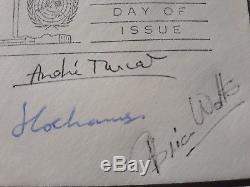 Brian Trubshaw, Turcat, Cochrane & Watts Concorde pilots signed FDC