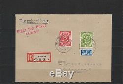 Bund 137-138 Posthorn FDC als Einschreibebeleg