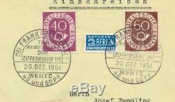 Bund FDC 133, 135 Posthorn 40 und 60 Pfg. (bs244)