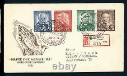 Bund MiNr. 173-76 Ersttagsbriefe/ FDC auf R-Brief gelaufen 1C676