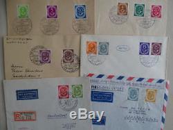 Bund, Nr. 123/38, Posthorn 1951 auf FDC`s / Ersttagsbriefen, Atteste Schlegel