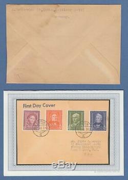Bundesrepublik 1949 Wohlfahrt Mi. Nr. 117-120 auf FDC 14.12.49 O EUTIN RRR