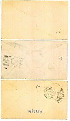 C4-6 8c-24c Airmail set of 3 First Day Covers 832858