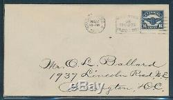 #C5 16c AIRMAIL FIRST DAY COVER AUG 17,1923 (XF) HW5347