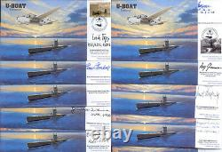 CC67d set of 10 RAF FDC signed WWII WW2 U-Boat Commanders