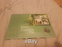 CELEBRATING 50 YEARS OF 50p 2009 KEW GARDENS FIRST DAY COVER FDC PACK BUNC