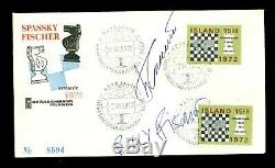 CHESS Bobby Fischer vs. Spassky autographs on a FDC 1972 World championship
