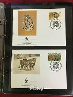 CMAU20 World Wildlife Fund First Day Covers and MUH sets Collection (4 albums)