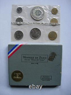 COFFRET 1972 FRANCE MONNAIE DE PARIS FLEUR DE COIN FDC BU 10 F HERCULE Argent R