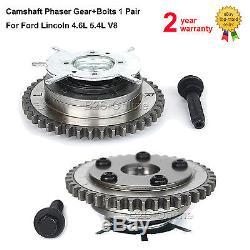 Camshaft Phaser Gear+Bolts For Ford Expedition F150 F250 Mark Navigator 5.4L V8
